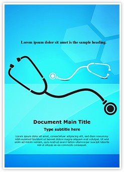 Medical Stethoscope Background Editable Word Template