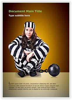 Prisoner in Uniform Editable Word Template