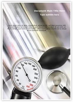 Stethoscope and Pressure meter Editable Word Template