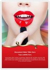 Red Lipstick Word Templates