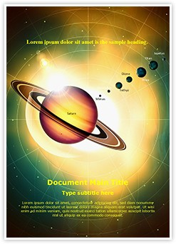Solar System Saturn Editable Word Template