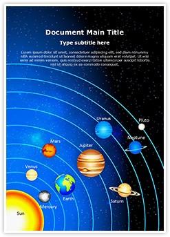 Astronomy Solar System Editable Word Template