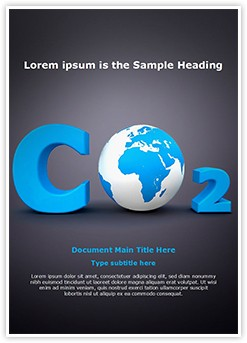 Carbon Dioxide Editable Word Template