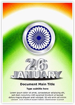 Indian Republic Day Editable Word Template