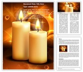 Lighted Candles Editable Word Template
