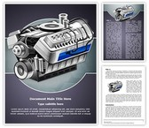 Automobile Engine Editable Word Template