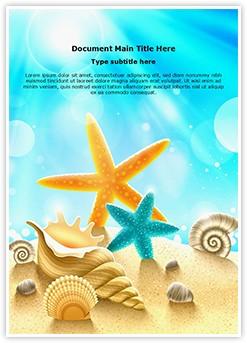 Beach Summer Holidays Editable Word Template