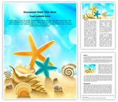 Beach Summer Holidays Editable Word Template