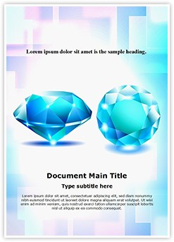 Blue Sapphire Diamond Editable Word Template