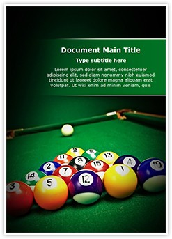 Billiard Table Editable Word Template