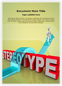 Overcoming Stereotyping Editable Word Template