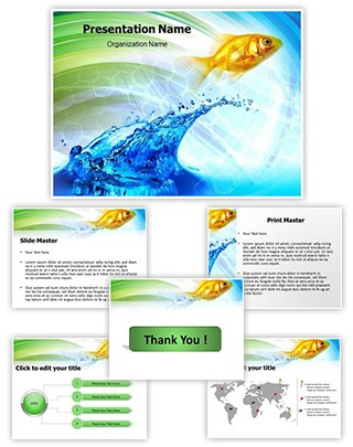 Water Fish Editable PowerPoint Template