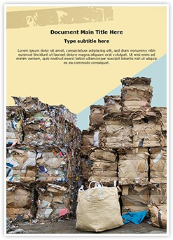 Paper Recycling Stock Editable Word Template