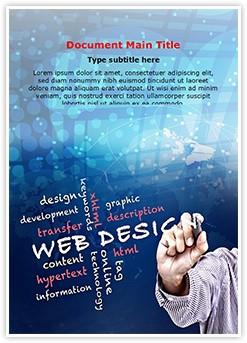 Web Design Editable Word Template