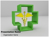 Healthcare Symbol Caduceus Editable PowerPoint Template