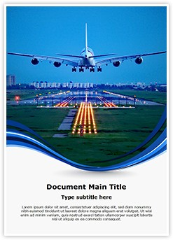 Plane Runway Editable Word Template