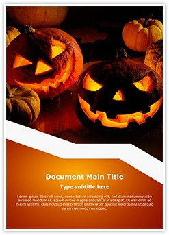 Halloween Pumpkin Editable Word Template