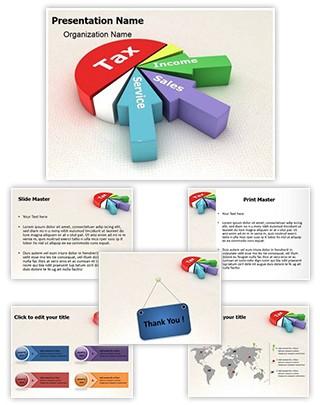 Tax Revenue Pie Chart Editable 3D PPT Template