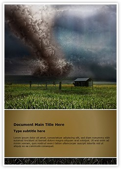storm Editable Word Template