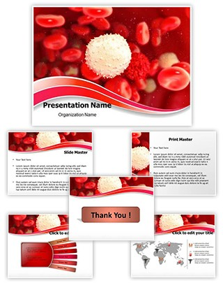 White Blood Cell Editable PowerPoint Template