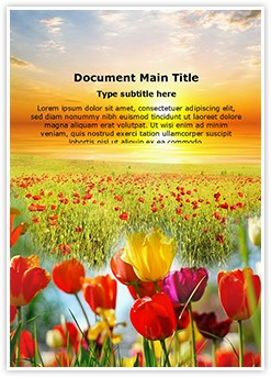 Nature Flowers Editable Word Template