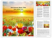 Nature Flowers Template