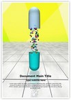 Medical Capsule Pills Word Templates