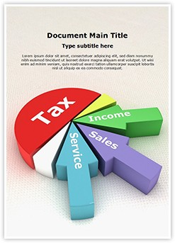 Tax Revenue Pie Chart Editable Word Template