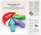 Tax Revenue Pie Chart Editable Word Template
