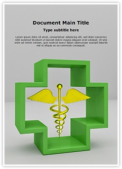 Healthcare Symbol Caduceus Editable Word Template