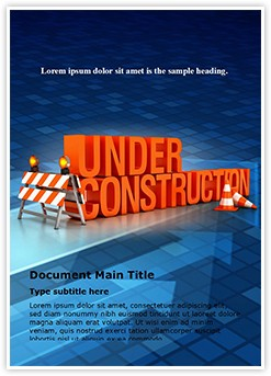 Under construction Editable Word Template