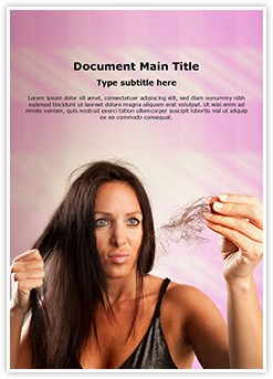 Woman Hairloss Editable Word Template