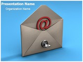 Email Security Key Editable PowerPoint Template