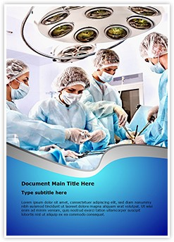 Surgery Room Editable Word Template