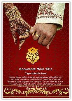 Indian Wedding Editable Word Template