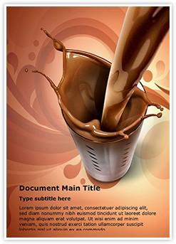 chocolate milk Editable Word Template