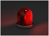 Red Siren Light Template