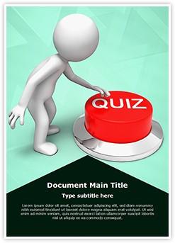 Quiz Editable Word Template