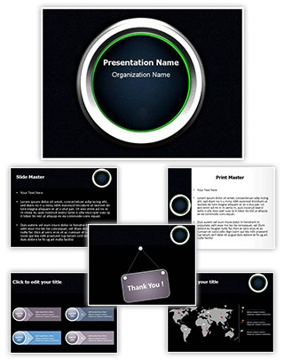Ignition Button Editable 3D PPT Template