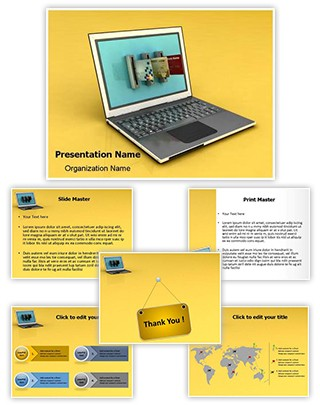 Internet Banking Editable 3D PPT Template