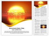 Sunrise River Editable Word Template