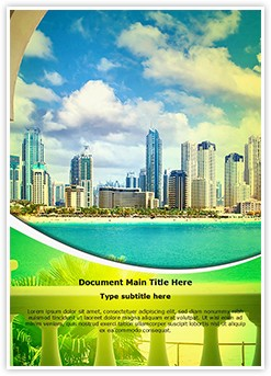 Dubai Tourism Editable Word Template