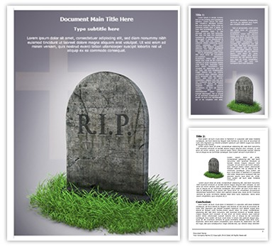 RIP Editable Word Document Template