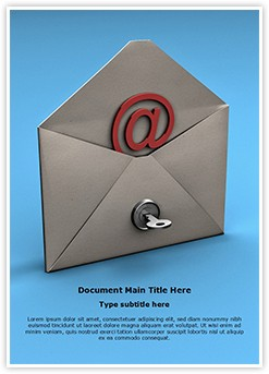 Email Security Key Editable Word Template