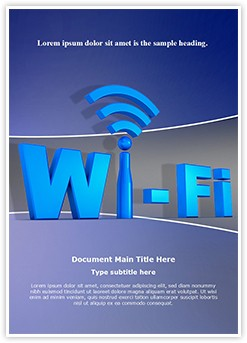 Wifi Network Technology Editable Word Template