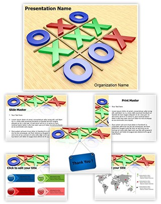 Tic Tac Toe Editable 3D PPT Template