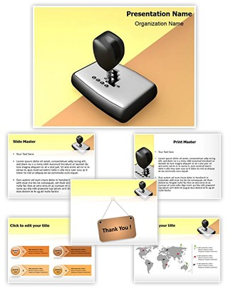 Automatic Car Shift Editable 3D PPT Template