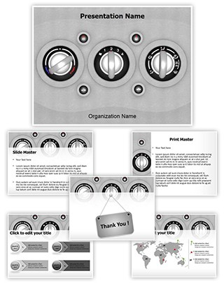 Car Air Conditioner Editable 3D PPT Template