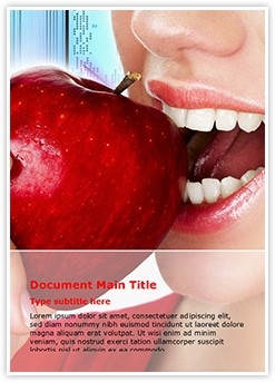Teeth and Apple Editable Word Template