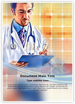 Doctor Writing Editable Word Template